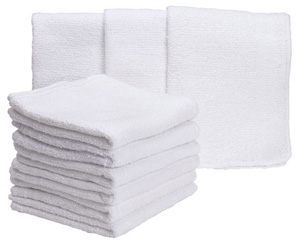 White washcloths