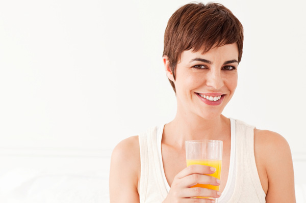 Woman on juice diet