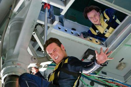 Michael Fassbender and James McAvoy in X-Men: First Class
