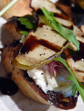 grilled pear bruschetta