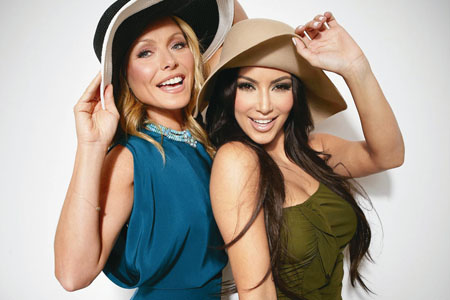 Kim Kardashian and Kelly Ripa promote Ovarian cancer awareness