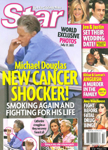 Michael Douglas smoking again