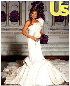 Monica's custom wedding gown