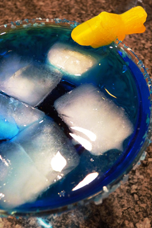 Shark infested water martini