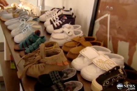 Rachel Zoe baby nursery shoe collection