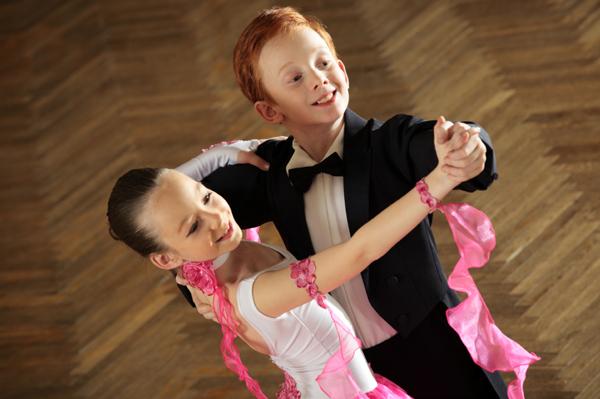 Children ballroom dancing