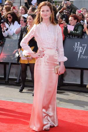 Bonnie Wright at the London premiere of Harry Potter and the Deathly Hallows Part 2