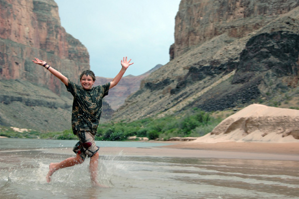 Boy at Grand Canyon
