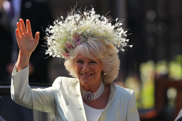 Camilla Parker-Bowles at Zara Phillips royal wedding