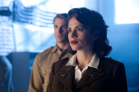 Hayley Atwell and Chris Evans in Captain America