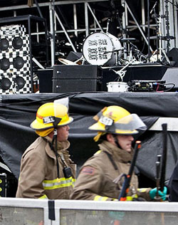 Cheap Trick stage collapse