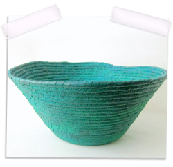 Coiled contemporary bowl