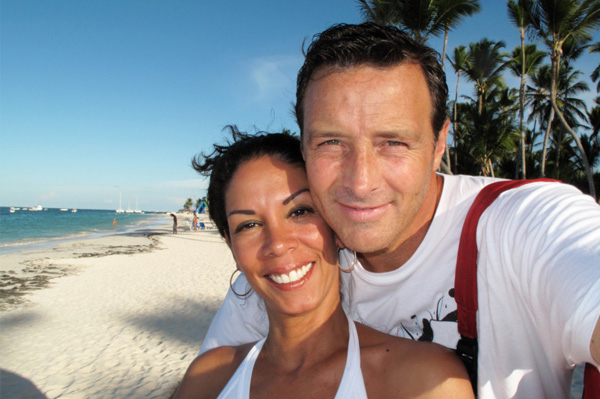 Couple on short honeymoon in Bahamas