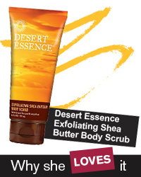 Dessert Essence Exfoliating Shea Butter Body Scrub