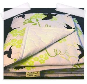 Hummingbird silhouette quilt