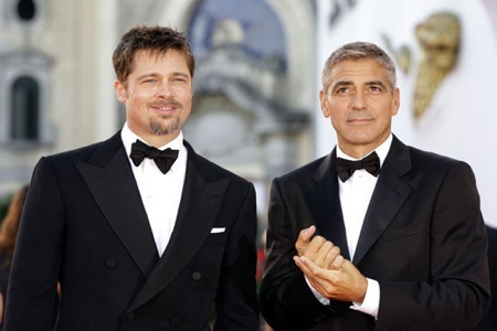 George Clooney and Brad Pitt at Festival