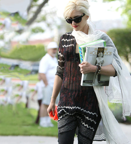 Gwen Stefani in a stylish tribal outfit
