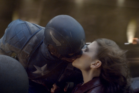Captain America gets a kiss