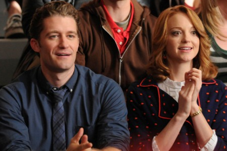 Matthew Morrison and Jayma Mays in Glee
