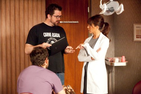 Jennifer Aniston on the set of Horrible Bosses