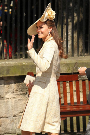 Kate Middleton at Zara Phillips royal wedding