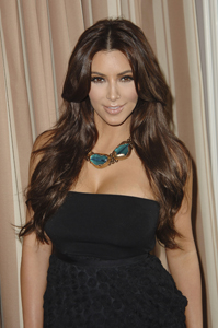 Kim Kardashian gets her party on