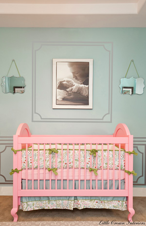 Celebrity d cor laila ali s inspiring nursery for Above the crib decoration ideas