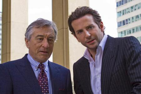 Robert De Niro and Bradley Cooper in Limitless