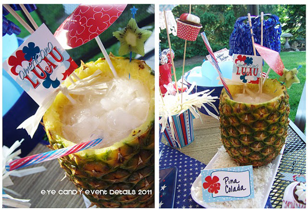 Stunning and stylish luau décor