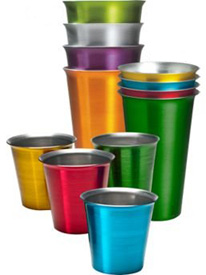 Old-Fashioned Aluminum Tumblers 