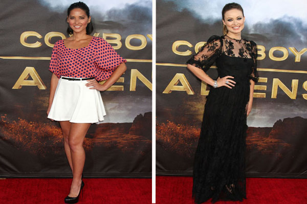 Olivias clash on the red carpet