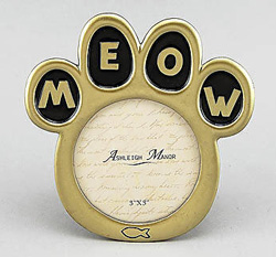 Cat Meow Picture Frame by Ashliegh Manor