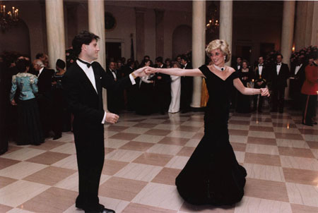 Princess Diana dancing with John Travolta