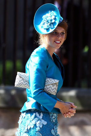 Princess Beatrice at Zara Phillips' wedding