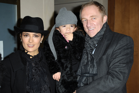 Salma Hayek, husband and daughter