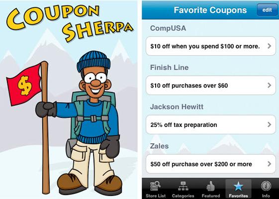 Coupons sherpa app