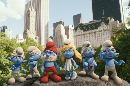 The Smurfs hit the big city on July 29