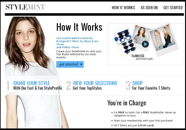 Stylemint website by Ashley and Mary-Kate Olsen