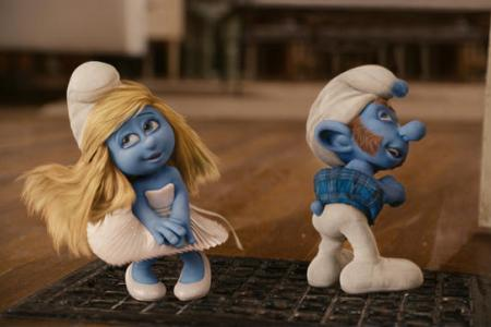 Katy Perry is Smurfette and Alan Cumming is Gutsy Smurf