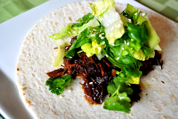Ginger and soy sauce... in tacos?
