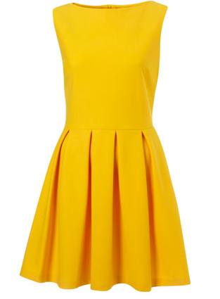 Harry Potter Style: Top shop yellow dress