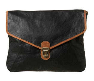 versatile black oversized clutch from topshop