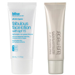 Face lotion with SPF