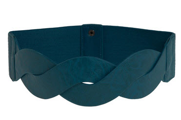 thick sash belt in deep aqua for versatile fashion