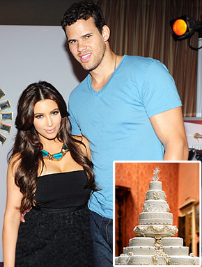 Kim Kardashian Kris Humphries wedding cake