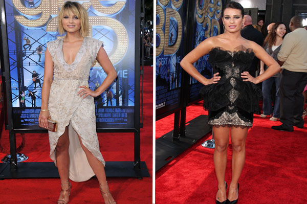 Glee's Lea and Dianna go glam