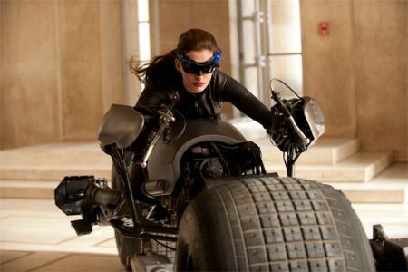 Anne Hathaway at Selina in the new Batman flick