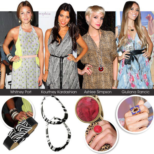 Whitney Port, Kourtney Kardashian, Ashlee Simpson and Giuliana Rancic red carpet fashion