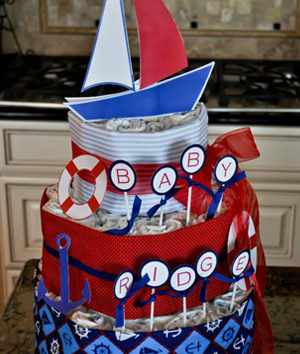 Sailing/nautical -- Ahoy, it's a boy!