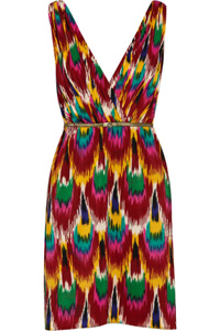 Alice + Olivia Alameda Ikat print dress